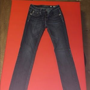 Women's miss me skinny blue jeans 14 girls